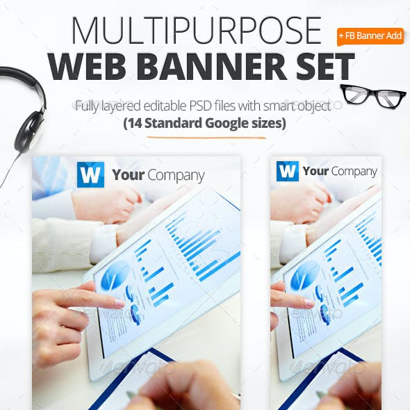 Multipurpose Marketing Web Banners