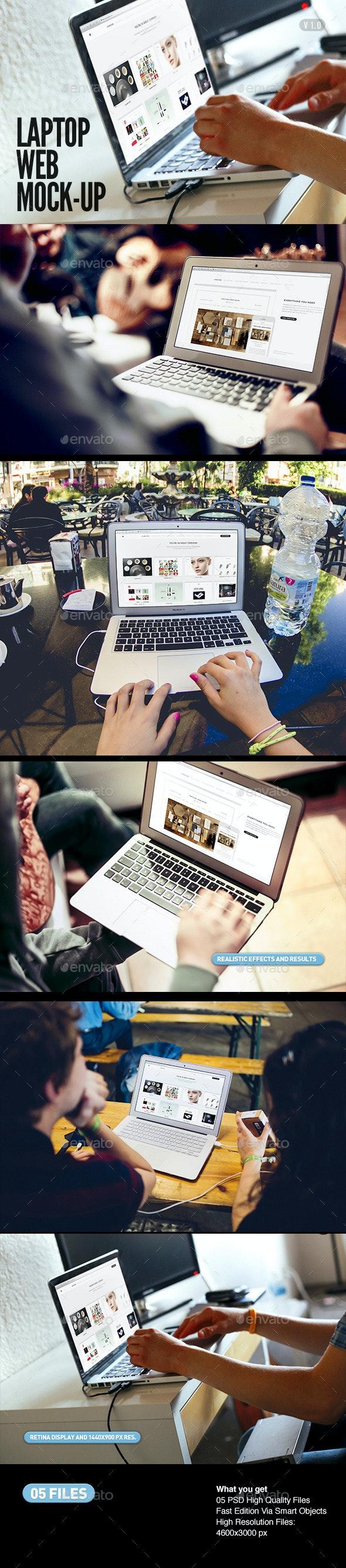 Laptop | Screen Web App Mock-Up - Laptop Displays