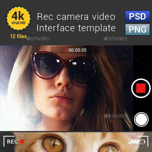 Rec Camera Video Interface Template
