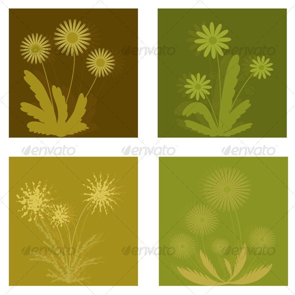 Set of flowers - Flourishes / Swirls Decorative