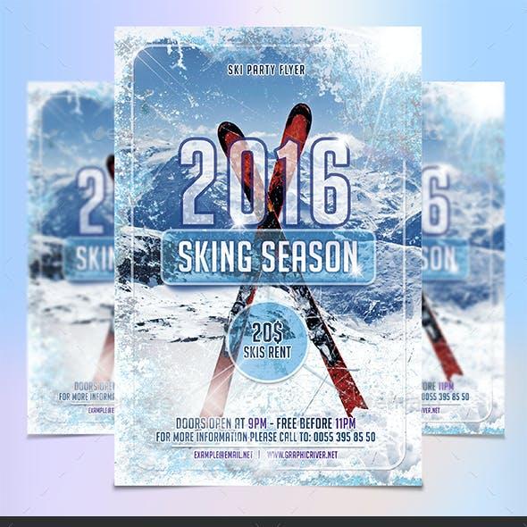 Skiing Season Flyer Template