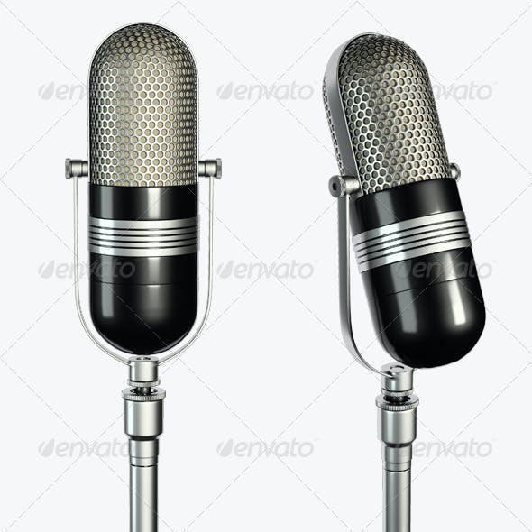 2 Microphone Renders