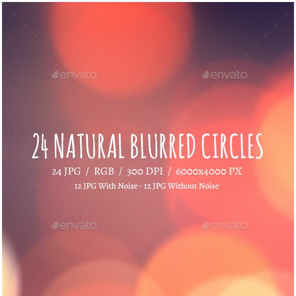 24 Blured Circle | Natural Background
