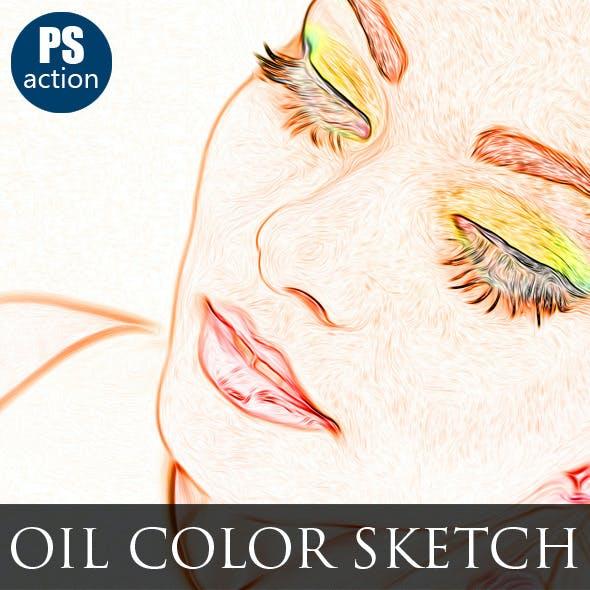 Oil Color Paint Sketch