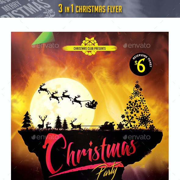 3 in 1 Christmas Flyer 2015 Bundle