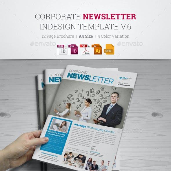 Newsletter Indesign Template v6