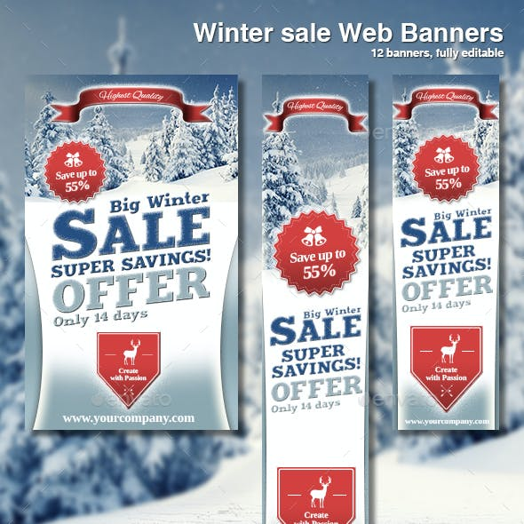 Web Banners Winter Sale