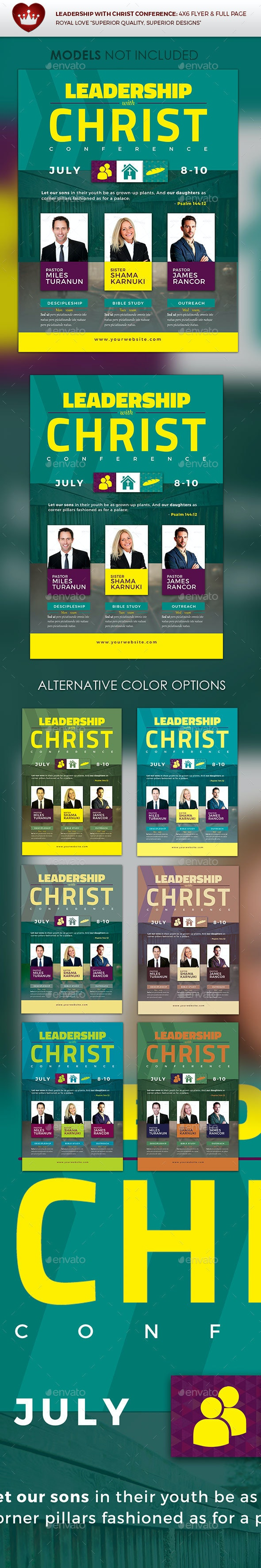Leadership with Christ Conference Flyer - Flyers Print Templates