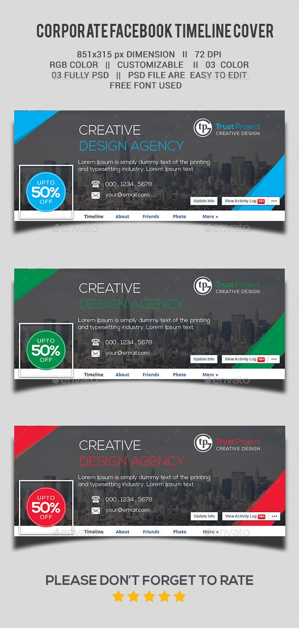 Corporate Facebook Cover Page by trust_project | GraphicRiver