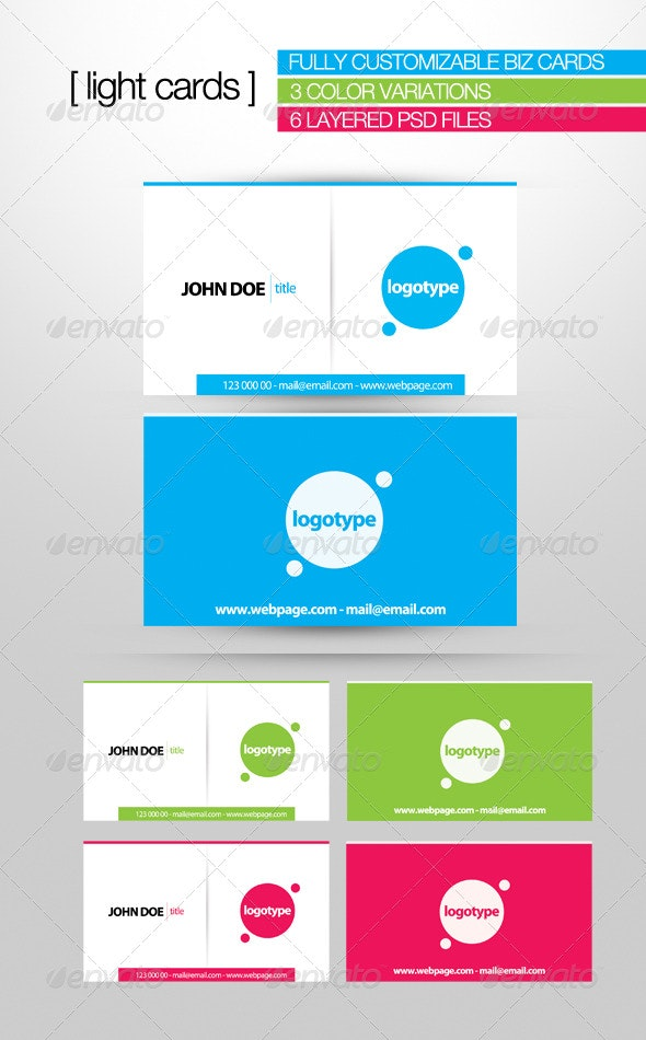 Light Cards - Corporate Business Cards
