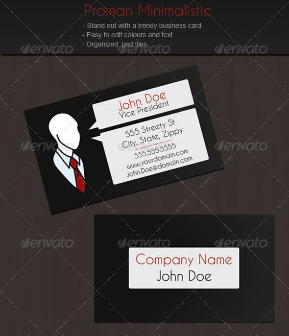 Proman Business Card - Creative Business Cards