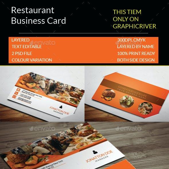 Restaurant Business Card Template.133