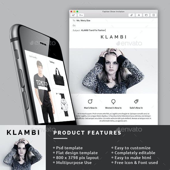 eCommerce E-Newsletter Template