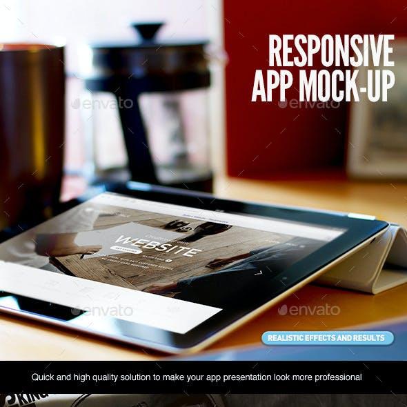 Responsive App Web Screen Devices MockUp