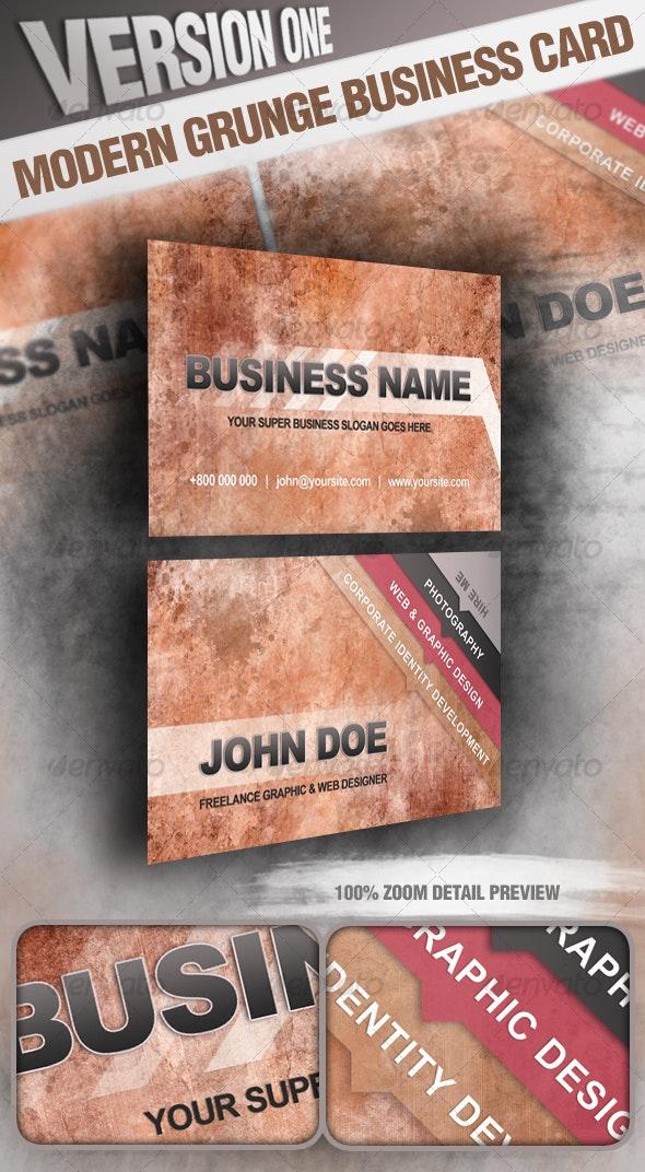 Modern Grunge Business Card V.1 - Grunge Business Cards