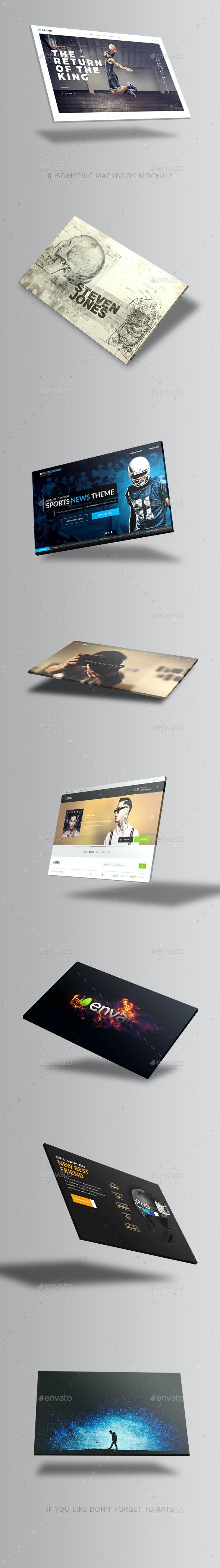 Isometric Laptop Mockup - Laptop Displays