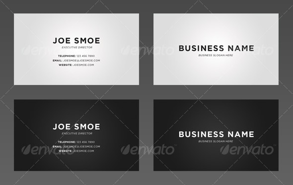 Simple Gradient Business Card - Corporate Business Cards