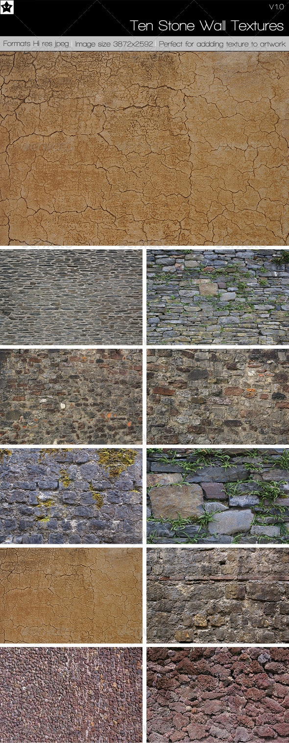 10 Stone Wall Textures - Stone Textures