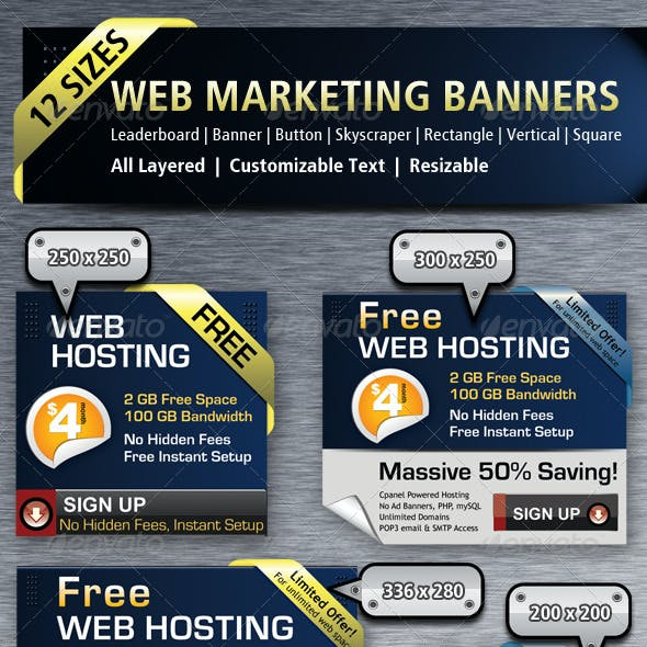 Web Marketing Banners & Ads