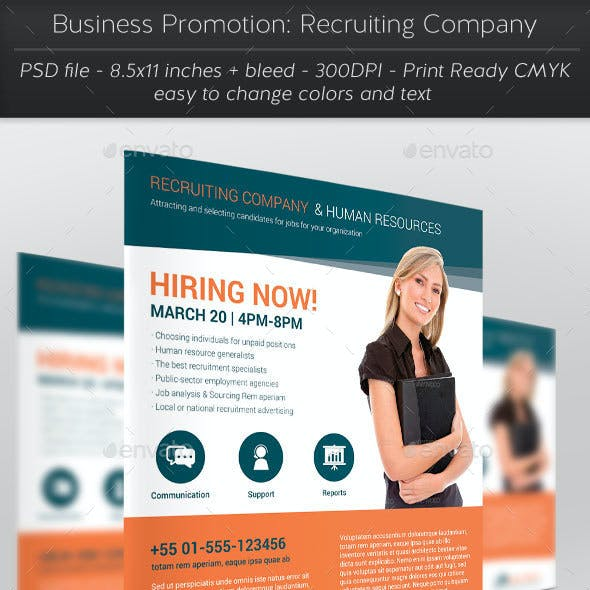 Business Promotion: Recruiting Company