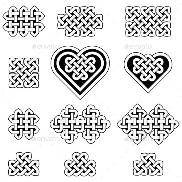 Collection of Celtic Knots - Decorative Symbols Decorative