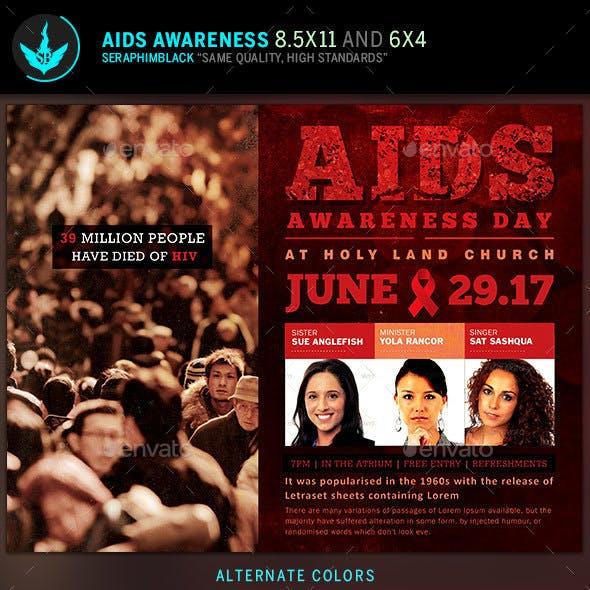 AIDS Awareness Flyer Template