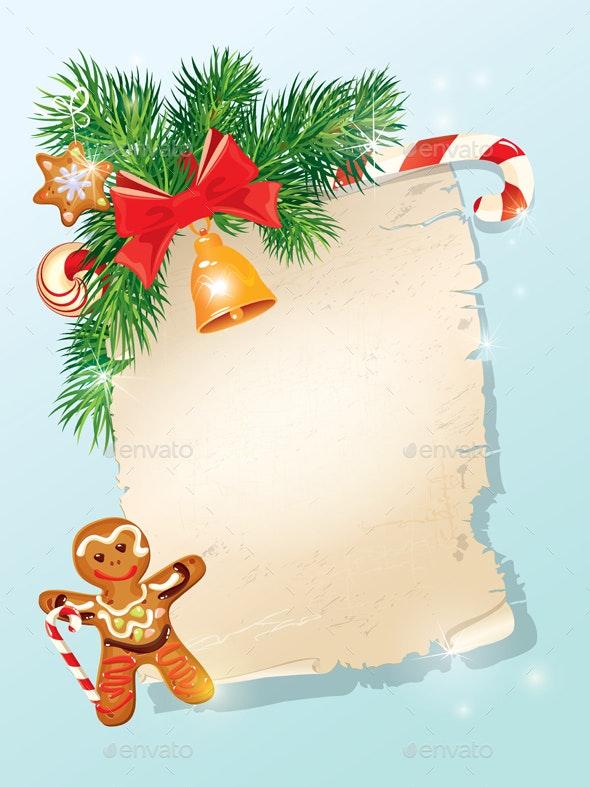 Christmas Greeting Magic Scroll - Christmas Seasons/Holidays