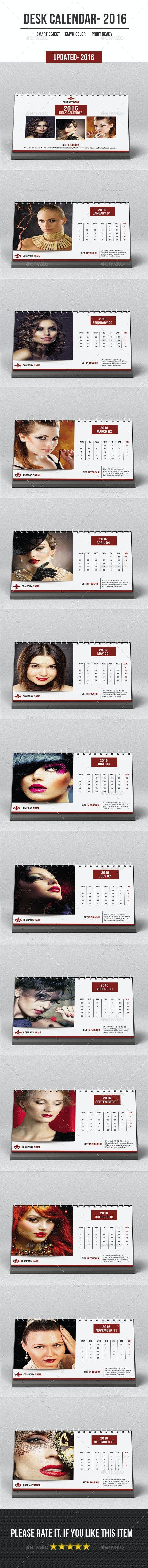 Desk Calender For 2016 - Calendars Stationery