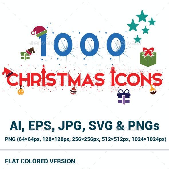 1000 Christmas Icons