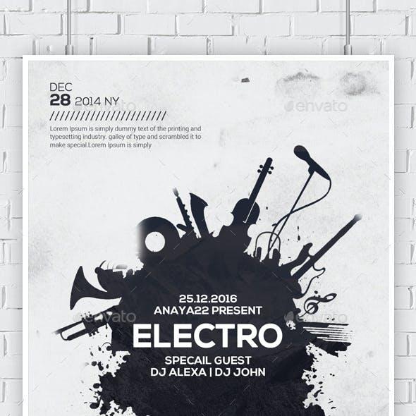 Electro Music Flyers Bundle