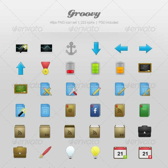 Groovy Icon Set