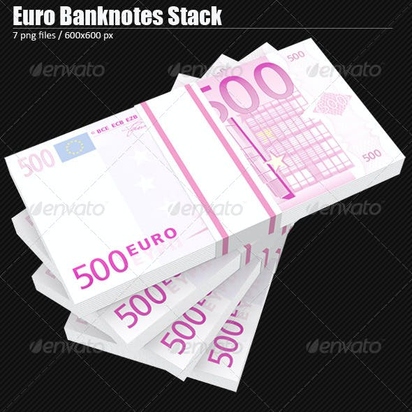 Euro Banknotes Stack