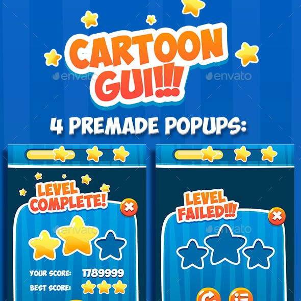 Cartoon GUI Game Asset