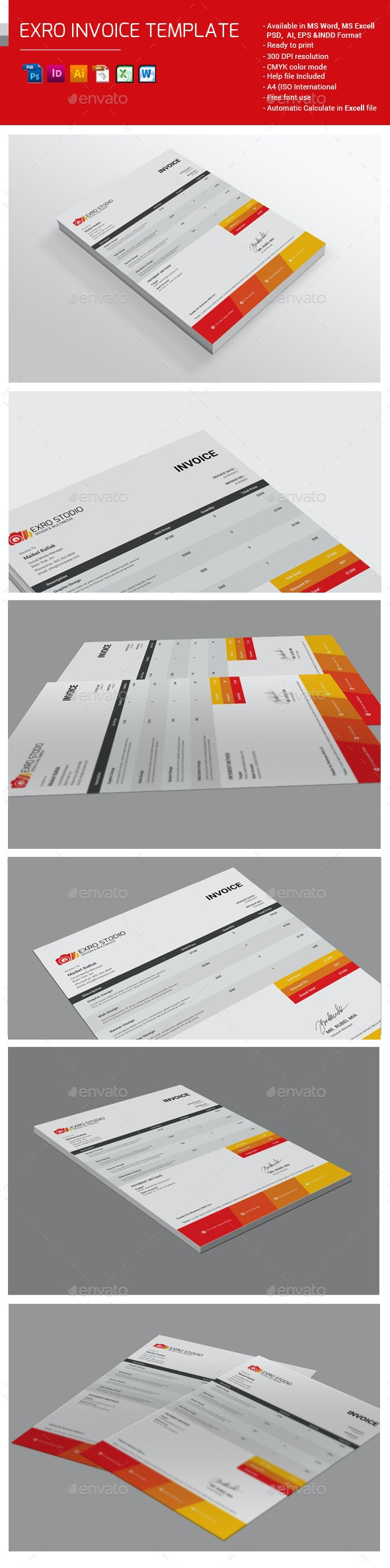 Exro Invoice Template - Proposals & Invoices Stationery