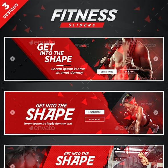Health & Fitness Sliders - 3 Designs