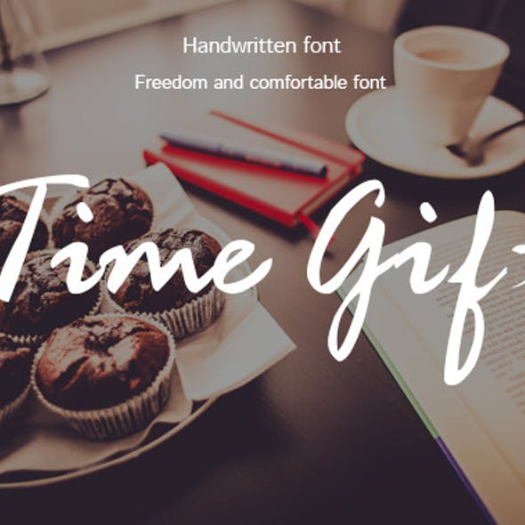 Time Gift-handwriting font