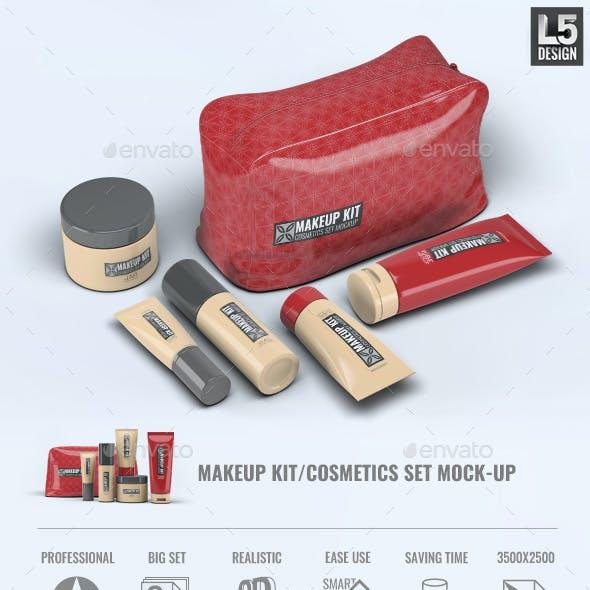 Makeup Kit Cosmetics Set Mock-Up