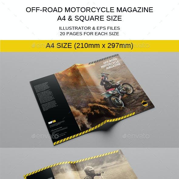 Motorcycle Magazine Template