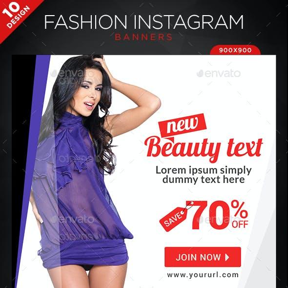 Fashion Instagram Templates - 10 Designs