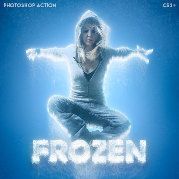 Frozen - Ice Photoshop action
