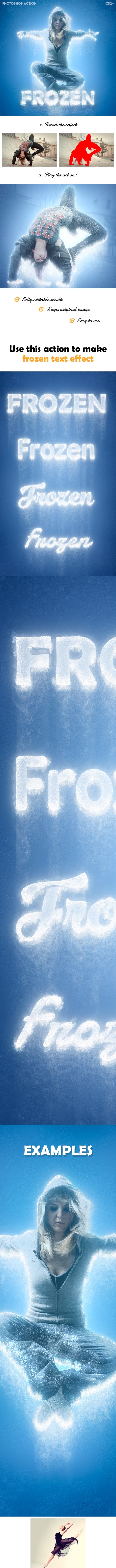 Frozen - Ice Photoshop action - Photo Effects Actions