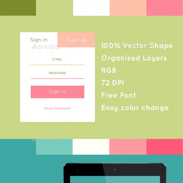 Flat Style Login Forms