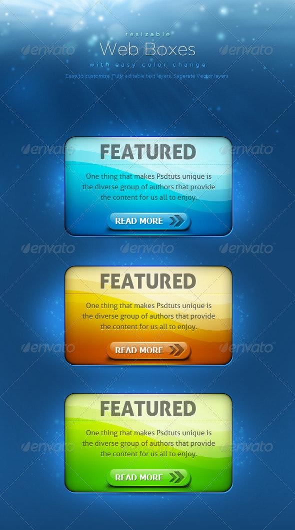 Web Boxes 3 - Miscellaneous Web Elements