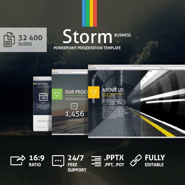 Storm Powerpoint Presentation Template