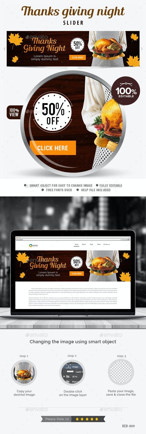 Thanksgiving Slider - Sliders & Features Web Elements