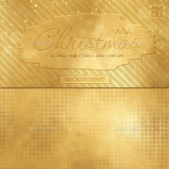 12 Christmas Gold Foil Backgrounds