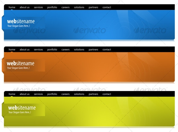 San 3 Colored Header - Miscellaneous Web Elements