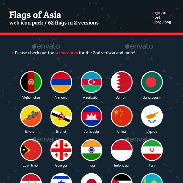 Flags of Asia - Flag Icons