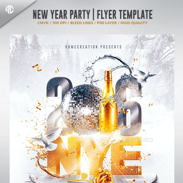 New Year  2016 | Nye Flyer Template