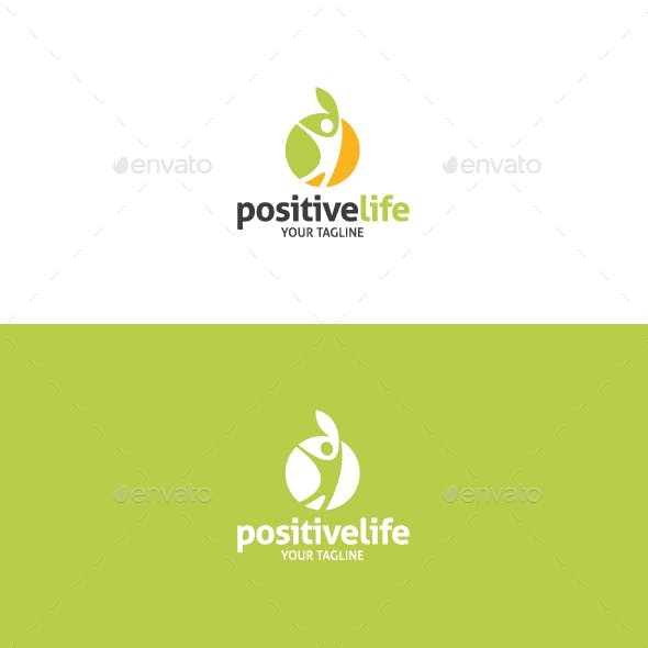 Positive Life - Healthy Life Style Logo